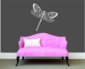 Butterfly Wall Sticker Custom Home Decorations Dragonfly Gold Rose Removable