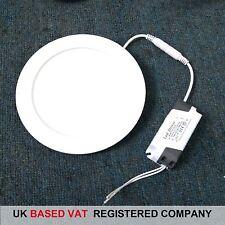 Blanco Frío Panel LED Luz Redondo 12W con UK FACTURA COMPLETA