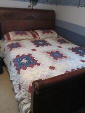"""Vintage Quilt Patchwork Quilt Bedspread Bedding Set 4 pc shams skirt 92"""" x 102"""""""
