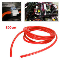 Red 3 Meter Length 3mm ID Silicone Fuel Line Gas Hose Tube Pipe For Auto Car