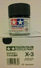 Tamiya acrylic paint X-3 Royal blue. 23ml.