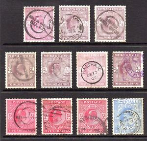 GB QV Collection of 11 2/6d 5/- and 10/- Stamps Fine Used Huge Cat