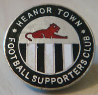 HEANOR TOWN FC Rare vintage SUPPORTERS CLUB Badge Brooch pin 27mm x 27mm