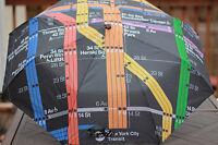 MTA MASS TRANSIT AUTHORITY NEW YORK CITY RAIN UMBRELLA PORT SUBWAY MAP