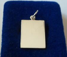 Sterling Silver 24x17mm Engravable Vertical Rectangle Tag Charm!
