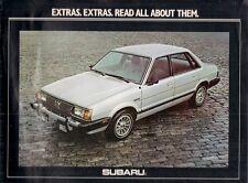 Subaru Accessories 1980 USA Market Sales Brochure Saloon Hatchback Estate Brat
