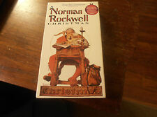 Rare A Norman Rockwell Christmas Vhs 1993 Family Home Entertainment Euc