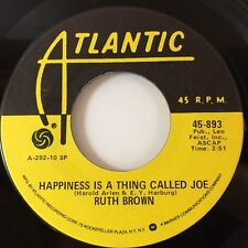 """RUTH BROWN: HAPPINESS IS A THING CALLED JOE / LOVE ME BABY (45,7"""", ATLANTIC 934)"""