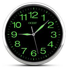 Alchgo Luminous Wall Clock, 12 Inch Silent Non-ticking Quartz Wall Clock with