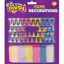 152 pezzi compleanno torta candele, decorazioni per torta, Caramelle A Righe CANDELE ASSORTITI