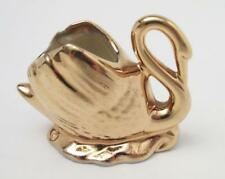 WEMBLEY WARE GOLD LUSTRE SWAN AUSTRALIAN POTTERY SIGNED WITH LABEL LIME INTERIOR