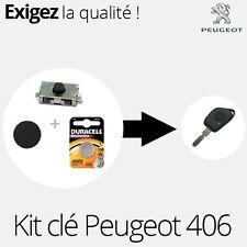 Bouton + switch + pile pour clé Peugeot 406 - KIT03