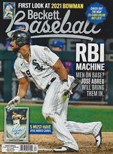 Current Baseball Beckett Price Guide Magazine December 2020 Jose Abreu