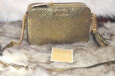 Michael Kors Ginny MD Camera Bag Leather  Gold Metallic/Black Metallic Org$198