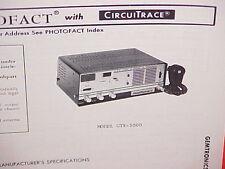 1978 GEMTRONICS CB RADIO SERVICE SHOP MANUAL MODEL GTX-5000