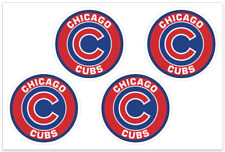 (4) Chicago Cubs MLB Decals / Yeti Stickers *Free Shipping