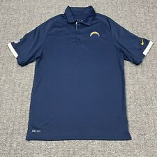 New listing Los Angeles Chargers NFL Blue Golf Polo On Field Shirt Nike Dri-Fit Men's Size S