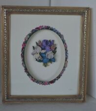Lena Liu Cameo Framed 3-d Flower 1999 Bradford Cherished Wall Picture