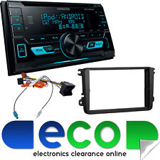 VW Caddy Van Kenwood Double Din CD MP3 iPhone USB AUX In Car Stereo & Fascia