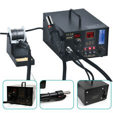 986A+ 4-in-1 SMD Rework Station Hot Air Gun Soldering Iron DC Power Supply 110V