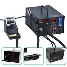 968a Digital Solder Iron Station Heat Gun Kit Absorb Smoke Generate During Weld