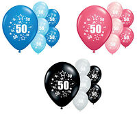 """8 X 50TH BIRTHDAY BALLOONS 12"""" HELIUM QUALITY PARTY DECORATIONS (PA)"""