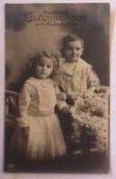 Geburtstag,  Kinder, Mode, Blumen,   1909   ♥ (29000)