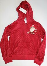 NEW Gymboree Cozy Owl Velour Hooded Zip Front Cardigan Size L 10 12 NWT
