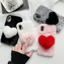 Cute 3D Soft Fluffy Plush Shockproof Protective Case Cover Shell for LG Phones