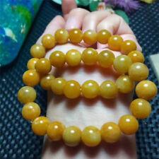 Natural topaz Quartz Crystal Round Bead Stretch Bracelet 10mm AAA Random
