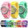 Elegante Cristal Reloj Pulsera Geneva Correa De Silicona Mujer Regalo Watch yy