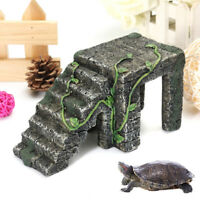 Turtle Dock Ladder Platform Basking Ramp Tank Aquatic Water Frog Amphibian  ! *