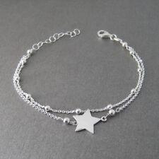 Bracelet double chaîne étoile en argent 925 BR98