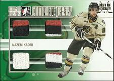 2009-10 ITG Heroes and Prospects Best of Hockey Nazem Kadri Gold Complete Jersey