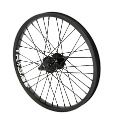 "Tribal BMX Rear Wheel 20"" Rim - 9 Tooth Cassette Hub - Black"