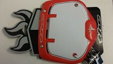 THE SUPERMOTO PRO PLATE RED BMX / MOTOCROSS NUMBER