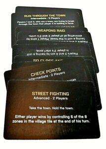 Risk Battlefield Rogue ed. board game replacement pieces - 9 Scenario Cards