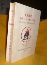 DuboutCODE DE LA ROUTE Maurice Gonon1955