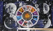 "Celestial Star Chart Horoscope Astrological Constellation Fabric 23"" Pnl  #11621"