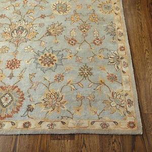 Ballard Designs 8' x 10' Devlin Blue Handmade Tufted 100% Woolen Rugs & Carpets