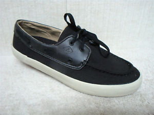 SPERRY Top-Sider - STS14569 - Men's Boat Shoes - Black Canvas Fabric - Size 8.5