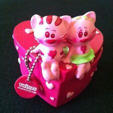 Scatolina portagioie in ceramica rosa con gattini E CUORI SAN VALENTINO SCATOLA