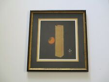 HAKU MAKI ETCHING EMBOSSED RARE JAPANESE MODERNIST ABSTRACT STILL LIFE VASE