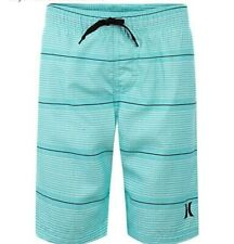 Hurley youth board shorts size L aqua colored with stripes