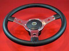 """14"""" Classic Leather Steering Wheel & Hub. Fits LR Defenders-18.5mm x 48 Splines"""