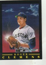 FREE SHIPPING-MINT-1991 FLEER  # 9 ROGER CLEMENS BOSTON RED SOX