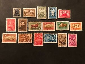 Hungary Stamps 1951 various lot of (28)--(6)CTO Hinged (22)used