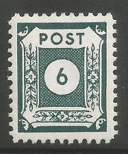 EAST SAXONY. 1945. White Paper 6pf Deep Green, Perf 11-1/2. SG: RE3c. MNH.
