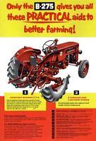 Vintage McCormick International B-275 Cutaway Tractor Poster Brochure Art (A3)