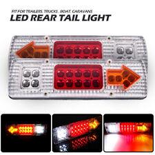 2x 12V 19 LED REAR TAIL STOP INDICATOR LIGHTS LAMP TRUCK TRAILER LORRY CARAVAN